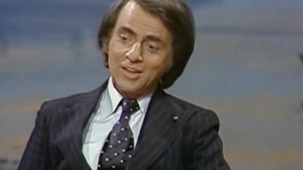 Carl Sagan appearing on The Tonight Show Starring Johnny Carson.
