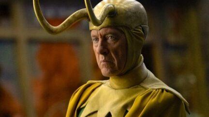 Richard E. Grant as Classic Loki on the Loki series