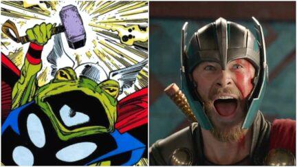 Marvel Comics Frog Thor and Thor actor Chris Hemsworth
