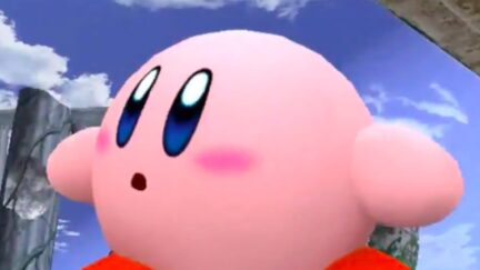 Kirby looking around in confusion.