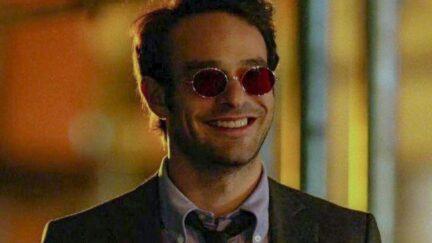 Charlie Cox smiles as Matt Murdock in Netflix's Daredevil