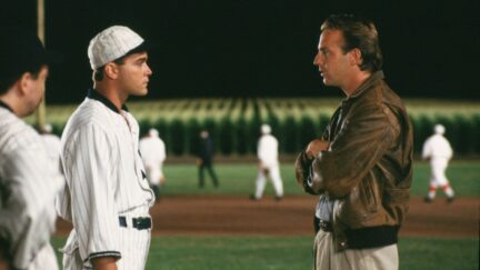 Kevin Costner and Ray Liotta in Field of Dreams
