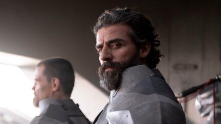 Oscar Isaac rocks a beard as Duke Atreides in 'Dune'
