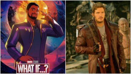 Chadwick Boseman, Christ Pratt as Star-Lord