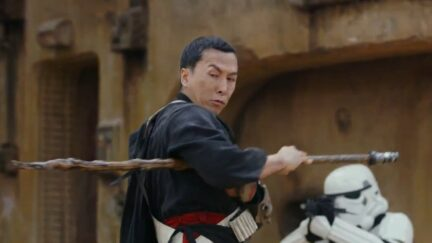 Donnie Yen as Chirrut Îmwe in Rogue One: A Star Wars Story.