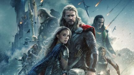 thor the dark world poster with our sexy cast in a mediocre film