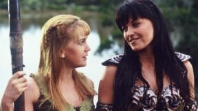 xena gabrielle are back with Renee o Connor and Lucy lawless back together