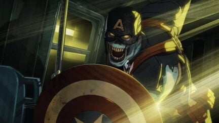 Zombie Captain America in What If Marvel Zombies