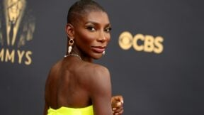 LOS ANGELES, CALIFORNIA - SEPTEMBER 19: Michaela Coel attends the 73rd Primetime Emmy Awards at L.A. LIVE on September 19, 2021 in Los Angeles, California. (Photo by Rich Fury/Getty Images)