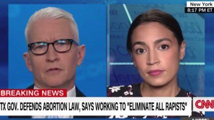 Anderson Cooper interviews Alexandria Ocasio-Cortez on CNN