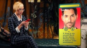 Cindy Pham (withCindy) setting up dating profile as Lucifer. (Image: Netflix.)