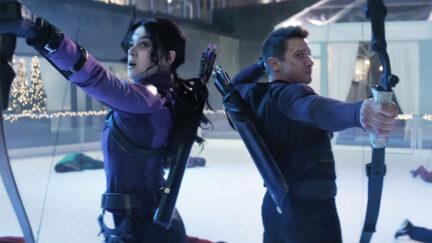 Kate Bishop and Clint Barton in Hawkeye