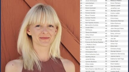 Jennifer Croft next to the first 50 ish names who signed her petition. (Image: Norapushkin and screenshot from U.K. Society of Authors.) https://en.wikipedia.org/wiki/Jennifer_Croft#/media/File:Jennifer_Croft.jpg