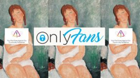 Image of Amedeo Modigliani, Female Semi-Nude (1918), but her breast is censored by Instagram and Only Fans images. (Image: Instagram, Only Fans, and Albertina, Wien.)