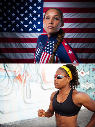 Lolo Jones and Lauryn Williams (Bobsled)