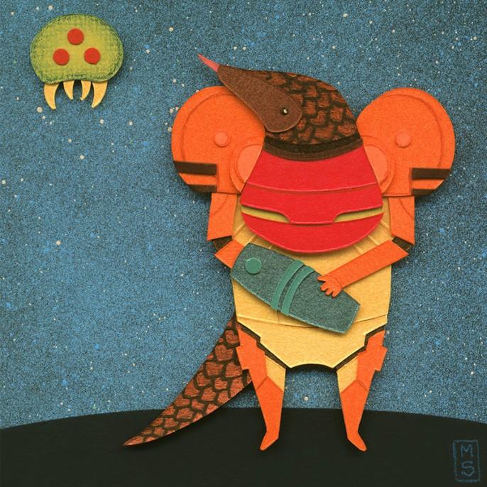 A Pangolin in Chozo Armor