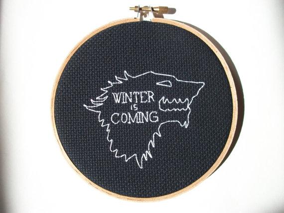 House Stark Sigil and Motto <em>Game of Thrones</em>