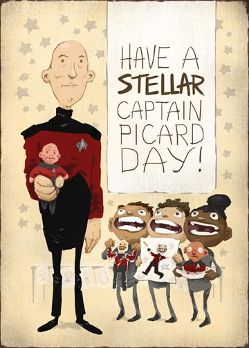 "Vintage ""Picard Day"" greeting cards"