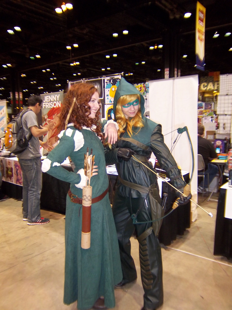 Merida and Fem!Green Arrow