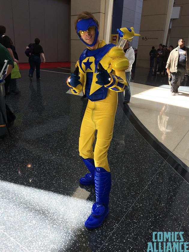 Booster Gold (and Skeets)