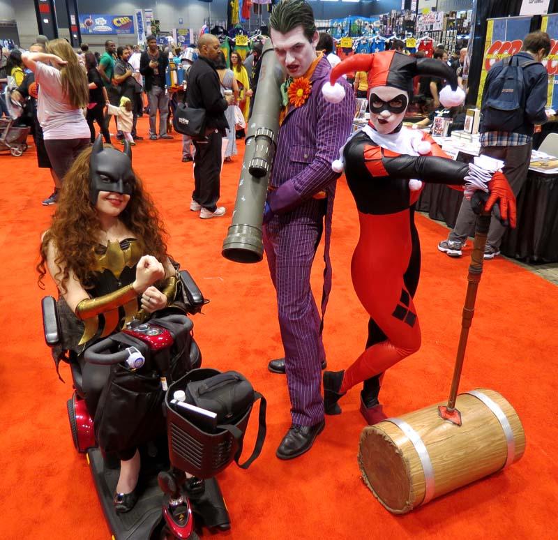 Batgirl, Joker, Harley Quinn