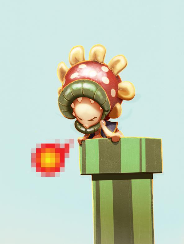 Toad as Piranha Plant (Super Mario Bros)