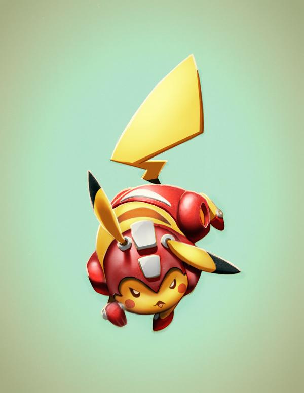 Pikachu as Rush (Megaman)