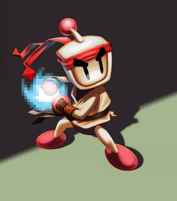Bomberman as Ryu (Street Fighter)