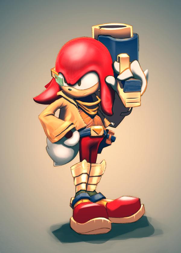Knuckles as Falco (Starfox)