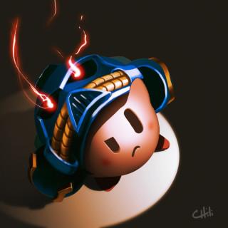 Kirby as a Space Marine (Warhammer)