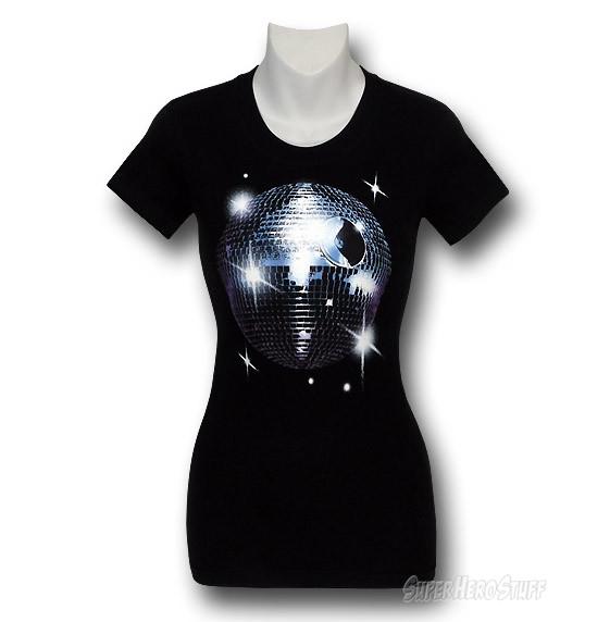 Star Wars Disco Death Star Jr Womens T-Shirt