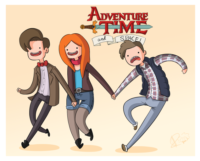 Eleven, Amy, Rory