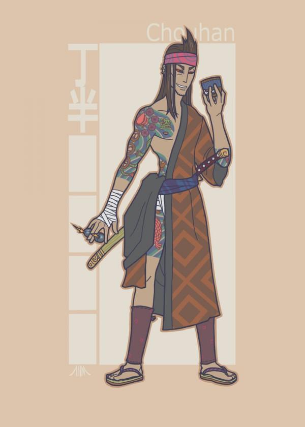 jidaigeki_x_men__gambit_by_genesischant-d5hj67f