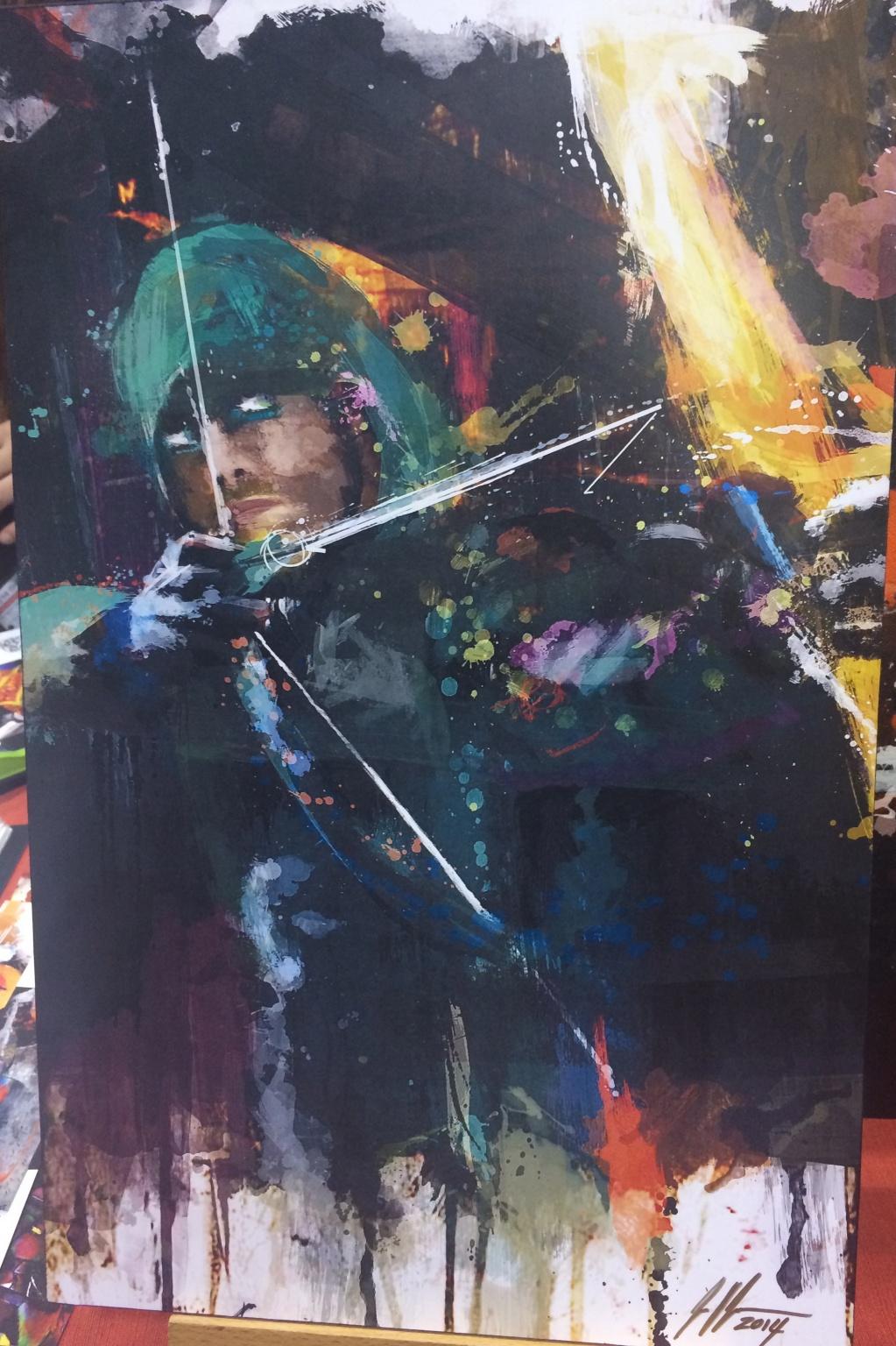 Holy <em>Arrow</em> on canvas, Batman
