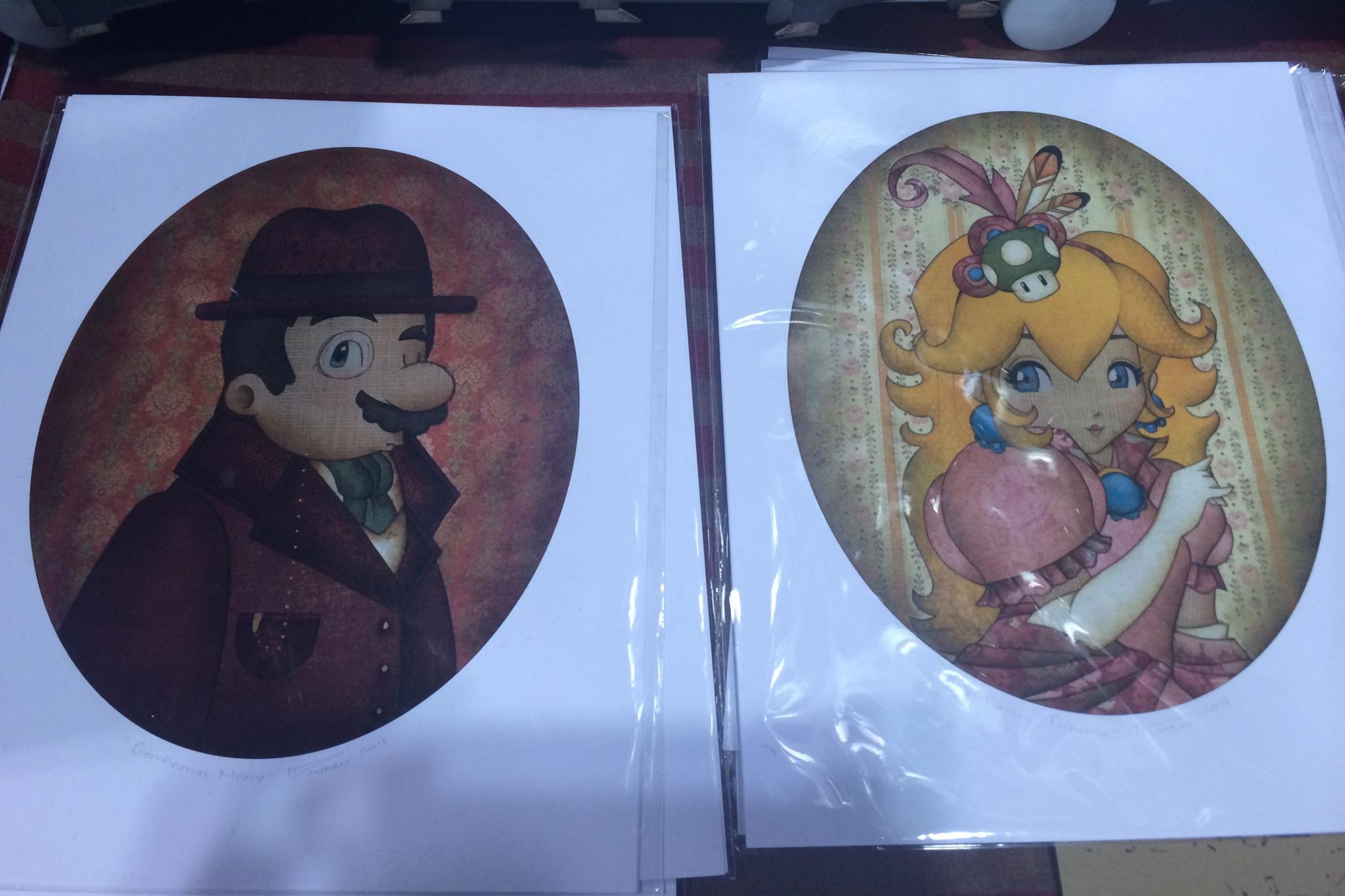 Victorian Mario & Peach are dapper