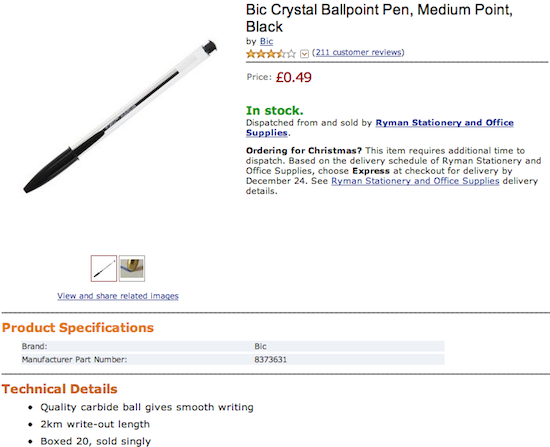 Bic Crystal Ballpoint Pen