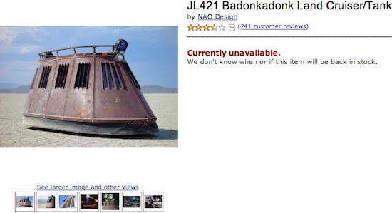 JL421 Badonkadonk Land Cruiser/Tank