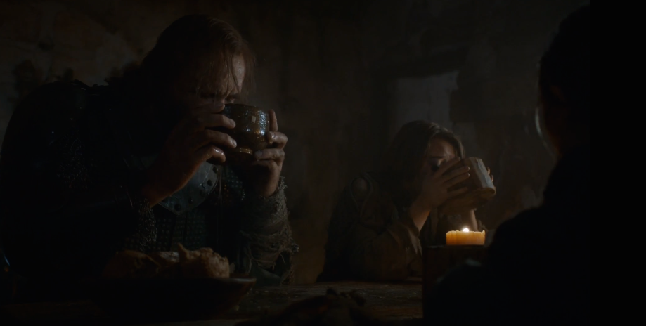 Arya and the Hound's Charming Table Manners