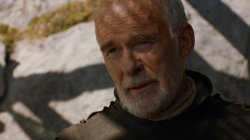 Daenerys shooting down Barristan's fatherly advice