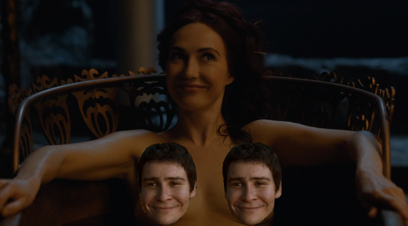 Melisandre making Selyse as uncomfortable as she possibly can