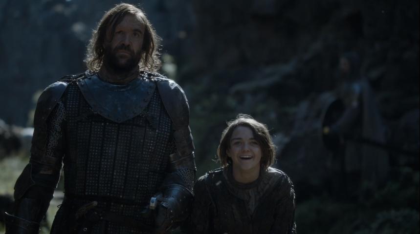 Arya's gigglefit...
