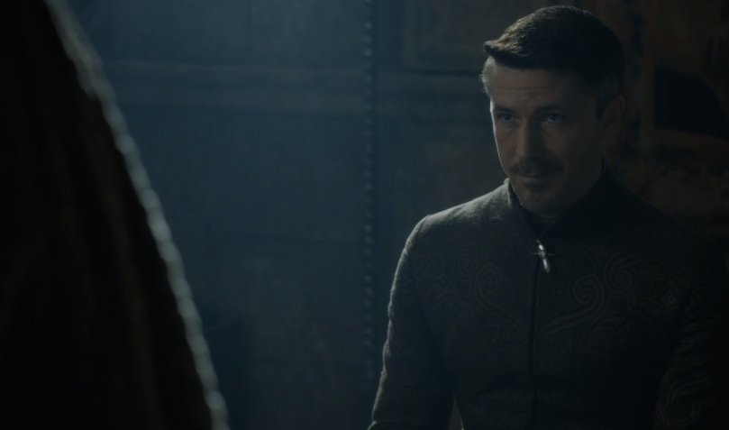 Pictured: Creeper Petyr after Sansa plays the Lords (and Lady) of the Vale like a fiddle