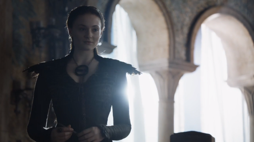 Sansa gets a new wardrobe