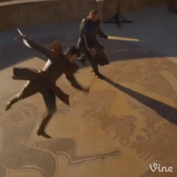 The Red Viper Doing Capoeira