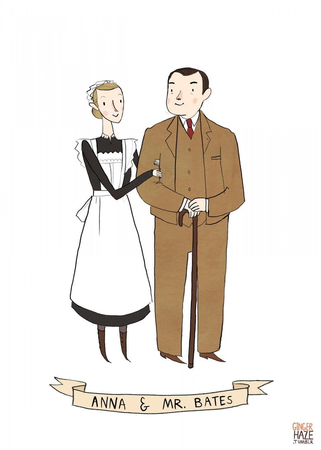 Anna and Bates from <em>Downton Abbey</eM>