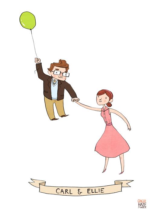 Carl and Ellie from <em>Up</eM>