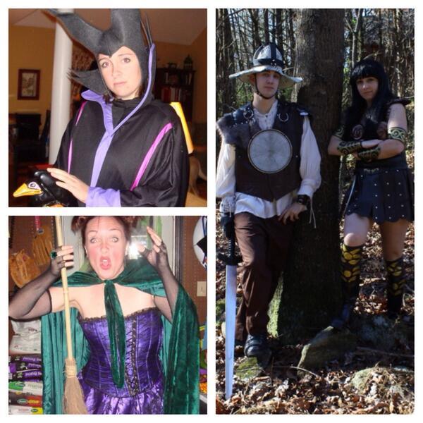 Maleficent, Xena, Joxur and Winnifred