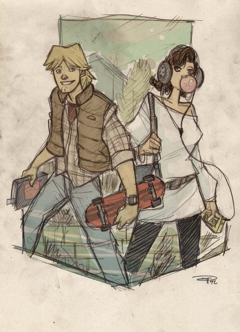 Marty McFly and - I Mean - Luke and Leia