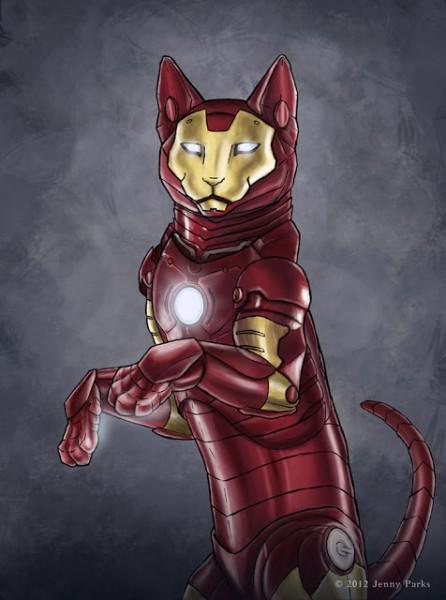 cat-iron-man