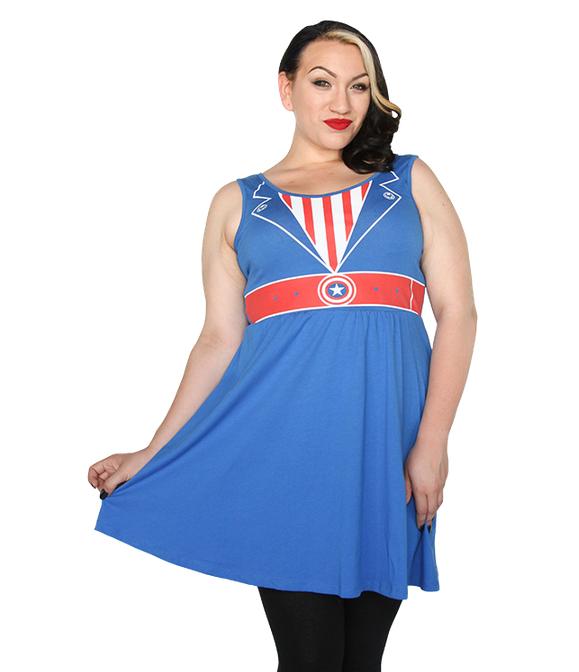 Captain America Costume Dress